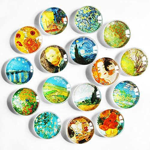 Magneti per frigorifero 16 pezzi, magneti per frigorifero in cristallo per mobili da ufficio, lavagne, foto, magneti magnetici decorativi per decorare la casa