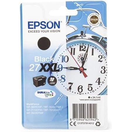 Epson 27xxl Tintenpatrone Xxl Schwarz Original Blister Tintenpatrone Für Workforce Wf 3620dwf Wf 3640dtwf Wf Bürobedarf Schreibwaren