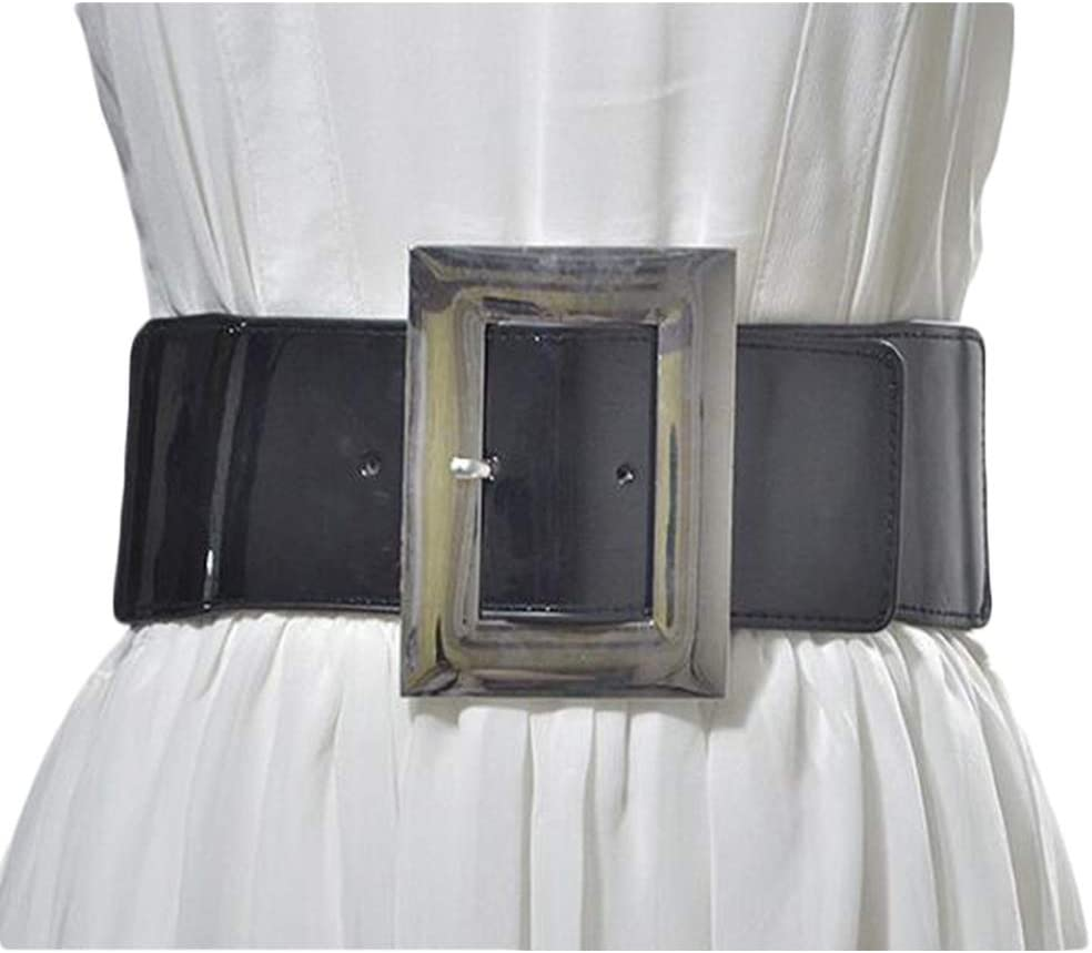 Wangqianli Women's Alloy Big Buckle Wide Popularity Belt Wild service Fashionable E