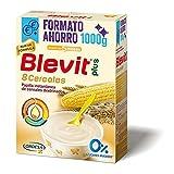 Blevit Plus 8 Cereales Formato Ahorro - Papilla de Cereales para Bebé con Harina de Avena y Harina de Trigo - Sin Azúcares añadidos - Ayuda a regular el tránsito intestinal - Desde los 5 meses - 1000g