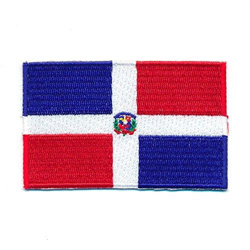 30 x 20 mm Dominikanische Republik Santo Domingo Flag Aufnäher Aufbügler 1002 Mini
