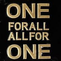 蒔絵シール 文字 「ONE FOR ALL ALL FOR ONE 金」
