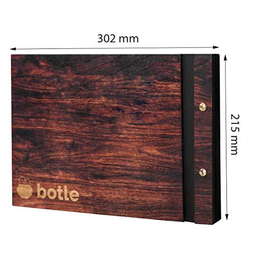botle Fotoalbum houten album 60 zwarte pagina's fotoboek zelf vormgeven inplakken