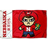 Sewing Concepts Nebraska Cornhuskers Kawaii Tokyodachi Mascot Flag