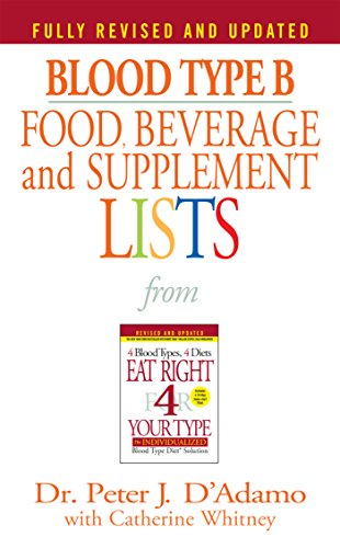 Blood Type B Food, Beverage and Supplement Lists (Eat Right 4 Your Type) (Diet Chart For O Negative Blood Group)