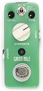 Pure Analog Delay 2 Modes Overdrive Micro Green Mile Effect Pedal Overdrive Electric Guitar Effect Pedal with 3 Control Knobs True Bypass (Color : Green, Size : Free Size)