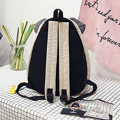 WRH Mochila para niños, 3D Sharpei Fox Ear Bookbag, diseño de dibujos animados individual con bolsillo frontal con cremallera, mochila de viaje para la escuela de jardín de infantes niños rojo