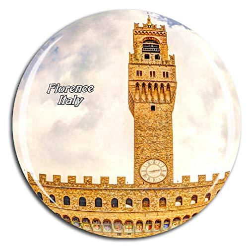Weekino Piazza del Municipio Italia Firenze Calamità da frigo 3D Cristallo Bicchiere Tourist City Viaggio Souvenir Collezione Regalo Forte Frigorifero Sticker
