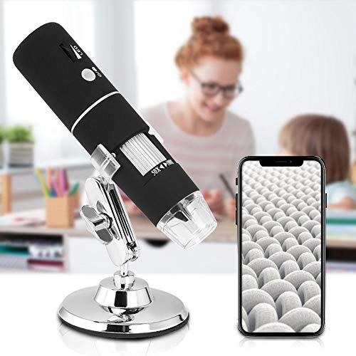 Boquite Weihnachtskarneval USB-Digitalmikroskop 40X-2500X, 8-LED-Vergrößerungs-Endoskopkamera mit Halterung und Sockel, LED-Binokularmikroskop für zusammengesetzte Mikroskope