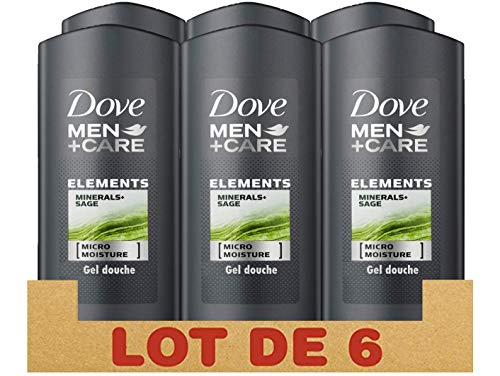 Dove Men + Care Douchegel, Mineral & Sage, 250 ml, 6 stuks