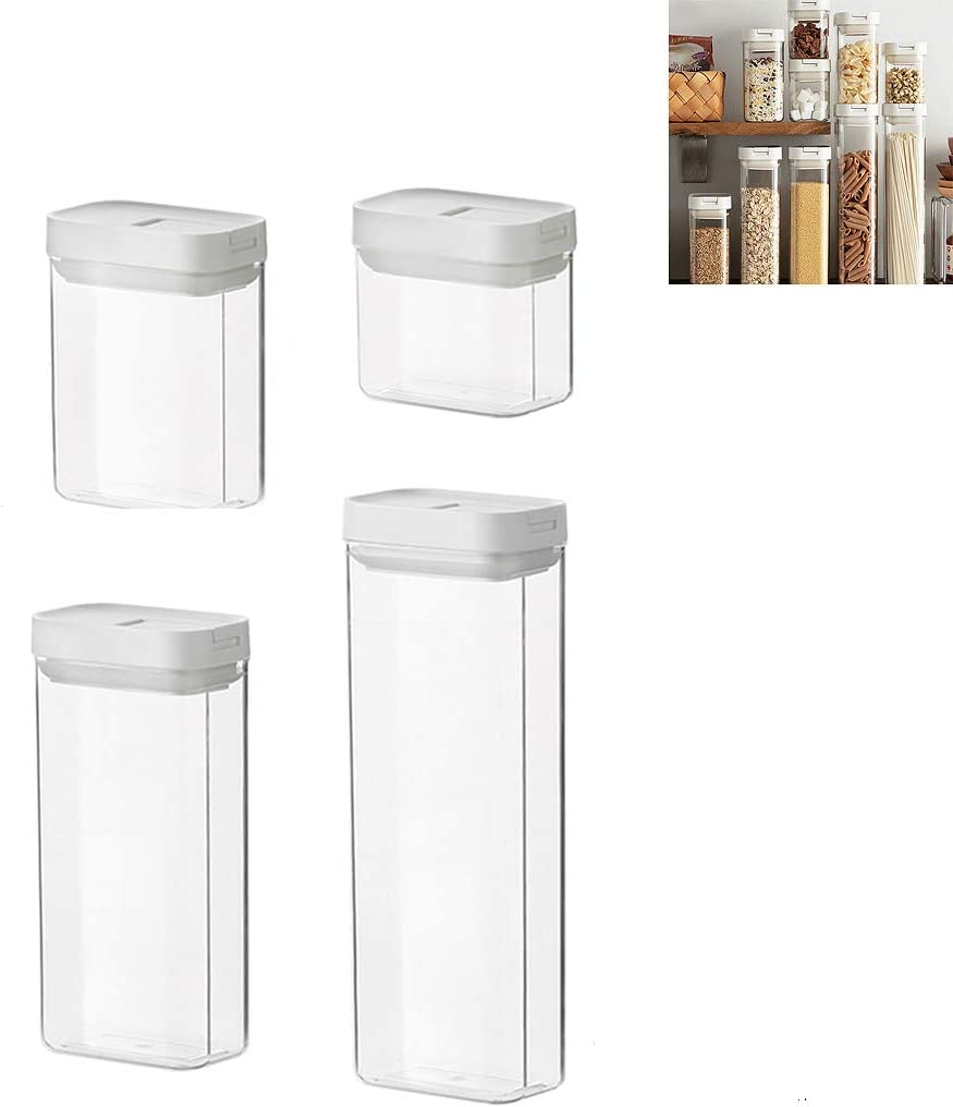 Cereal Container Storage Set, Plastic Airtight Food Storage Cont