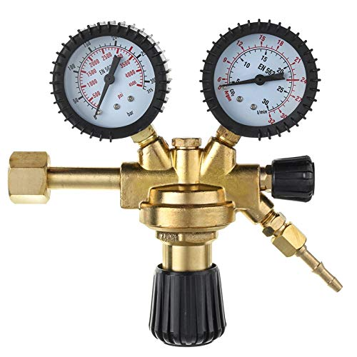 cjcaijun Válvula MIG TIG Pression regulador CO2 Reductor Durable Mini Gas Botella Herramienta de Alta precisión Argon AR CO2 Inicio Inicio Doble