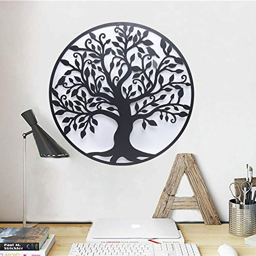 Metal Wall Art, Tree of Life Art Interior Home Decor or Living Room, Kitchen or Outdoors Black(99cm)