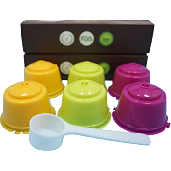 YISER 6 Pack Cápsulas Filtros de Café Recargable Colores Reutilizable para Cafetera Dolce Gusto: Amazon.es: Hogar