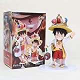 GYINK Anime One PieceRufyFigure Toy The Straw Hat Pirates Monkey DLuffywith CrownPVCAction Fig...