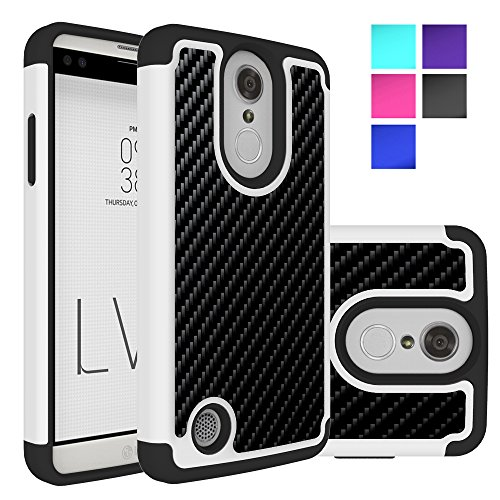 LG Phoenix 3 Case, LG Aristo Case, MicroP Dual Layer Heavy Duty Shock Absorbing Hybrid Protective Silicone Plastic Cover rugged Armor Phone Case Cover Shell for LG Aristo / LG Phoenix 3 (Armor Black)