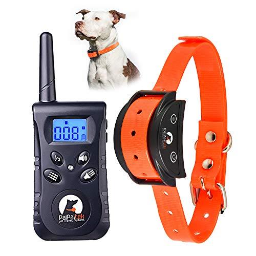 Paipaitek No Shock Hunde-Trainingshalsband, wiederaufladbar, wasserdicht, TPU, keine Zinken, sicher (Orange)