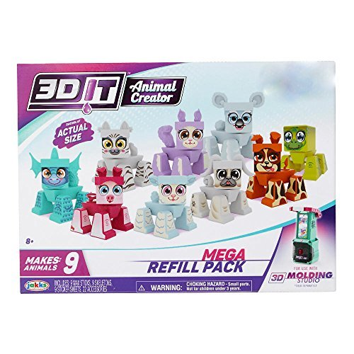3D Character Creator Teenage Mutant Ninja Turtles Basic Refill Pack Style 2 Novelty Toy Jakks 95177