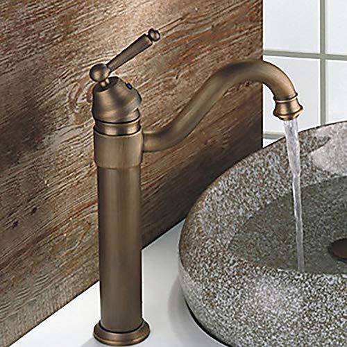 Hancoc Grifo del Lavabo del baño en Forma de Bronce Vintage 1 Orificio/Sola manija giratoria 1