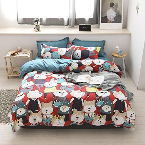 empty Duvet Quilt Cover And 2 Pillowcase Bed Set, Polyester-Cotton, Double,Easy Care And Super Soft Cotton Design,Prevent allergy,A23,(240x220) cm 2x(50x75) cm