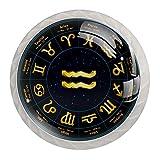 4 piezas, manijas y prácticas manijas de puerta, signo dorado de Zodiac Acuario para mejorar el hogar, manijas de gabinete, 3,5 x 2,8 x 1,7 cm