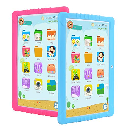 SANNUO Kids Tablet 10.1 inch, GMS-Certified Android 8.1 and Kids -Mode Dual System,Quad Core,16GB ROM,2.0+5.0MP Dual Camera,IPS1280x800 Screen,3G,GPS,Google Play with Learning App for Children.