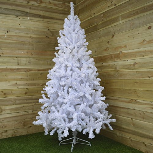 7ft (210cm) Imperial Pine Christmas Tree in White by Everlands