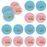 Etiqueta De Género Equipo 40 Piezas Decoraciones Para Fiestas De Baby Shower Etiqueta Pegatinas Redondas Niño Niña Etiqueta Para Decoración De Fiesta Baby Shower Revelación De Género