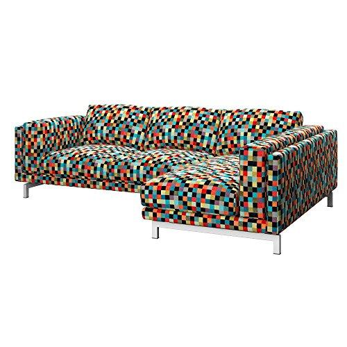 Soferia - IKEA NOCKEBY Funda para sofá de 2 plazas, dcha, Mozaik Red