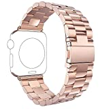 Für Apple Watch Armband 42mm Rose Gold,Rosa Schleife Edelstahl Metall Apple iWatch Armband...
