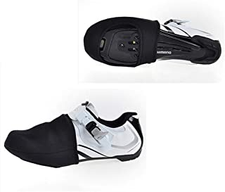 JIGM 2Pieces Cycling Shoe Toe Covers Non Slip Shoe Covers Windproof Half Shoecover for Mountain and Road Bike