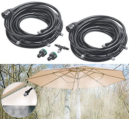 Royal Gardineer Regner: Zuschneidbare Wasser-Zerstäuber-Set mit 20-Meter-Schlauch und 16 Düsen (Wasserzerstäuber-Set)