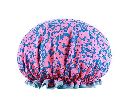 Capuchon de bain créatif Double capuchon de douche étanche, rose