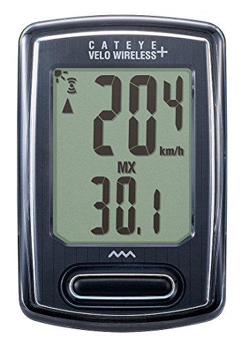 キャットアイ(CAT EYE) サイクルコンピュータ VELO WIRELESS+ CC-VT235W ブラック 160-4302 スピードメーター 自転車