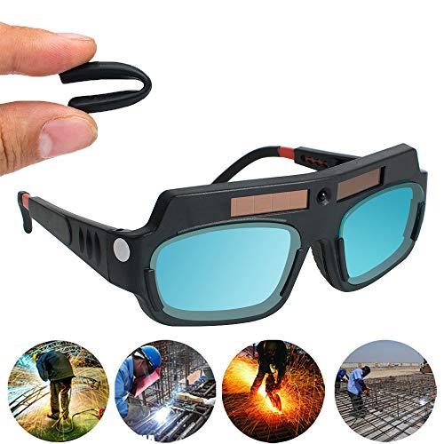 溶接保護メガネ 溶接メガネ 溶接ゴーグル 溶接面 自動遮光 溶接マスク ゴーグルサングラス アーク溶接 太陽光発電 自動暗色化 溶接保護メガネ 軽量 簡単装着