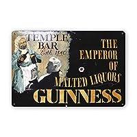Guinne-ss Temple Bar.jpgヴィンテージのブリキの看板、レトロなメタルサインの壁のプラークの装飾バーレストランの家の装飾の壁画ポスター、8x12インチの面白いギフト メタルプレートブリキ 看板 2枚セットアンティークレトロ