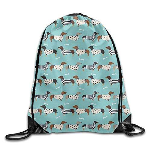 Sports Ness Bag,Travel Bag,String Pull Bag,Drawstring Gym Sport Bag Sausage Dog Dachshund Casual Travel Bag For Unisex String Backpack Gym Bag