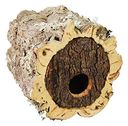 Vogelhaus aus Kork | Nistkasten aus Korkrinde | Vogelbrutkasten | Vogelhäuschen aus Naturkork | Durchmesser ca. 15 – 30 cm | Gartendeko | Nisthöhle für Vögel und Insekten | Vogelnistkästen