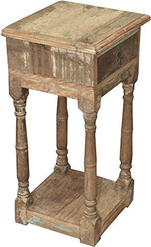 Guru-Shop Telefontisch aus Recycleholz, Braun, 70x36x33 cm, Schreibtische & Schreibpulte