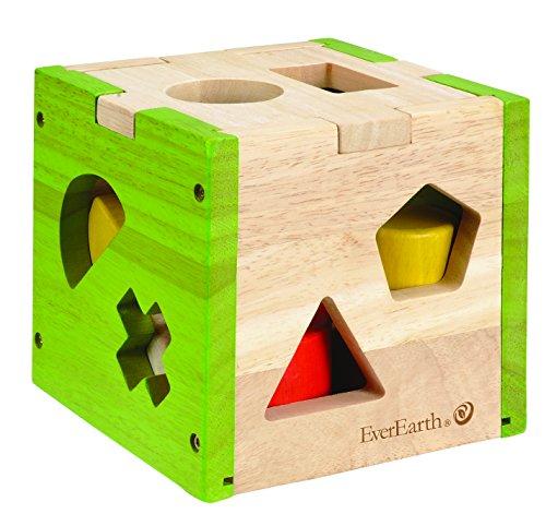 Everearth - EE32582 - Jouet de Premier Age - Cubes des Formes Géométriques