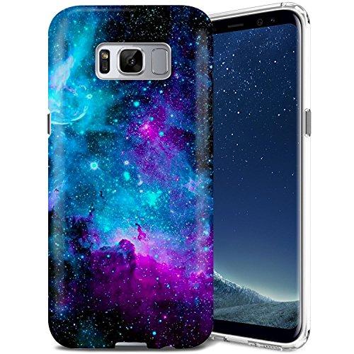 Galaxy S8 Case, ZUSLAB Nebula Design, Slim Shockproof Flexible TPU, Soft Rubber Silicone Skin Cover for Samsung Galaxy S8 (Purple Cosmos Nebula)…