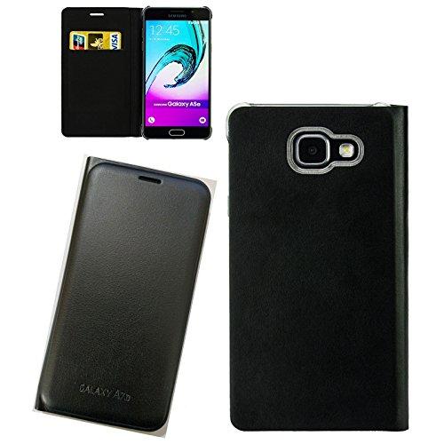 Digital Bay Custodia Cover Horizontal Flip Case Nero per Samsung Galaxy A7 2017 SM-A720F