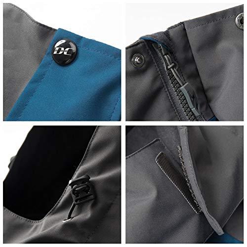 Diamond Candy, giacca da uomo in softshell, con cappuccio, per attività all'aria aperta, impermeabile Blu scuro XL