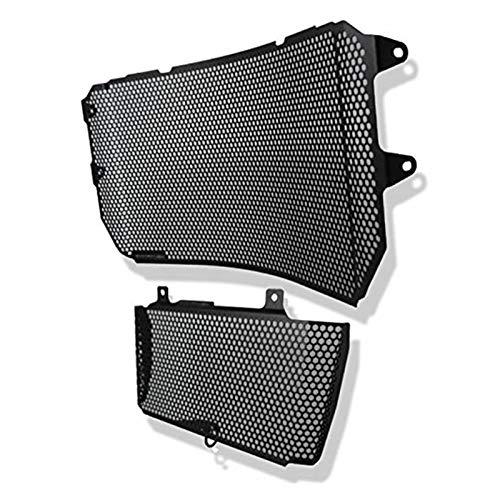 XIAOZHIWEN Los Guardias de la Rejilla del radiador Cubren la Cobertura del Protector de la Red de la Parrilla para Yamaha MT10 2016-2017 HNXZW (Color : Black)