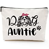 Funny Auntie Gift Dog Lover Gift Pet Owner Rescue Gift Women's Cute Dog Lovers Aunt Gifts from Niece Nephew Gifts for Aunts Birthday Dog Auntie Gifts for Women Makeup Bag- Dog Auntie-