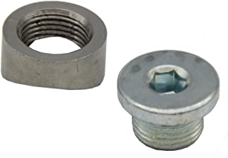 Ledaut M18X1.5 O2 Oxygen Sensor Bung Stepped Notched Style Mounting Bung And Plugs (1 Bungs/1 Plugs)