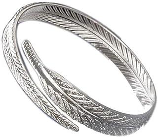 adjustable Bracelet Leaf Shape Silver Plated Bangle for Women Girl