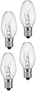 Night Light Clear Light Bulb Pack of 4 (10 Lumens, 5 watts, 120 Volts)