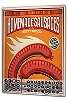 カレンダー Perpetual Calendar Retro Sausages Tin Metal Magnetic