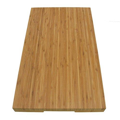 "BambooMN Brand Jenn Air Bamboo Range Burner Cover/Cutting Board, New Vertical Cut, Large (20.5""x12""x1.57"")"
